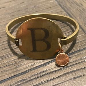 Top Shelf Brass Initial bracelet
